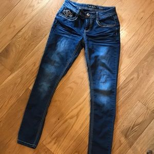 Vanilla Star SKINNY 12 girls stretch jeans NICE